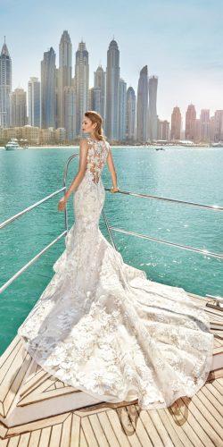 luxury white mermaid wedding gown