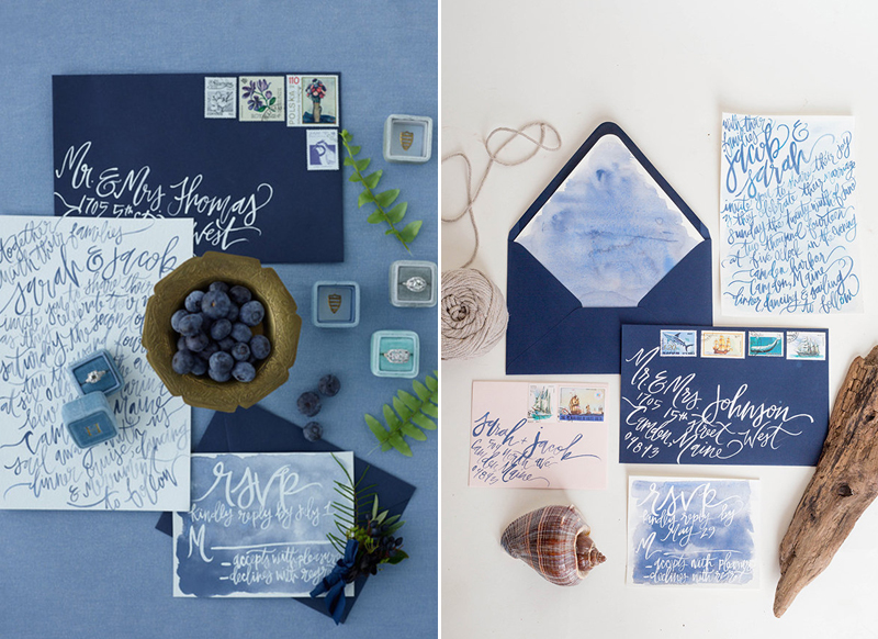 navy concept for wedding invitation