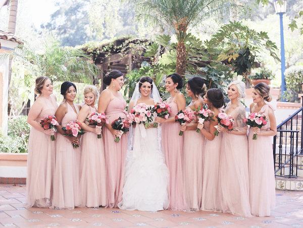 pink dress for vintage wedding