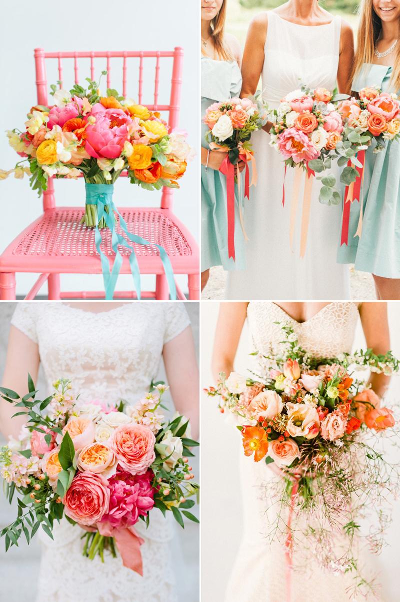 pop of color wedding bouquet design