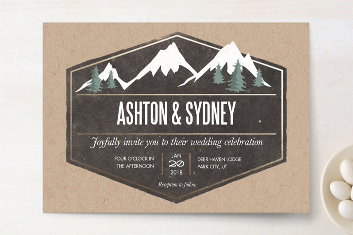 Samples of Paint Wedding Invitation Inspirations With Simple