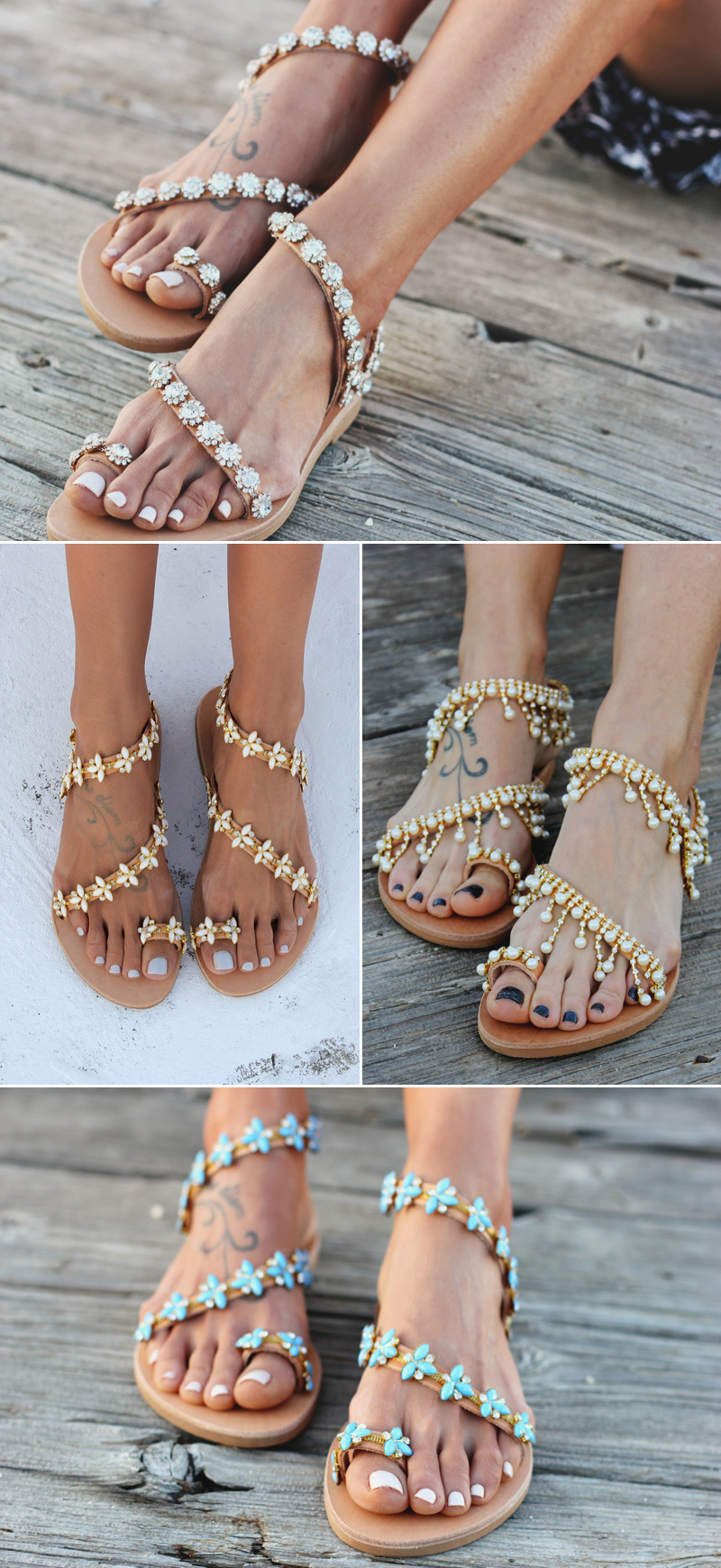 simple and cute wedding barefoot sandals