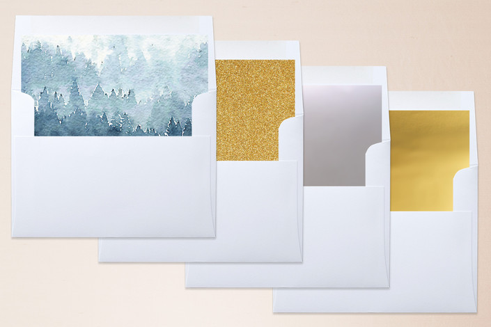 simple envelope of forest wedding
