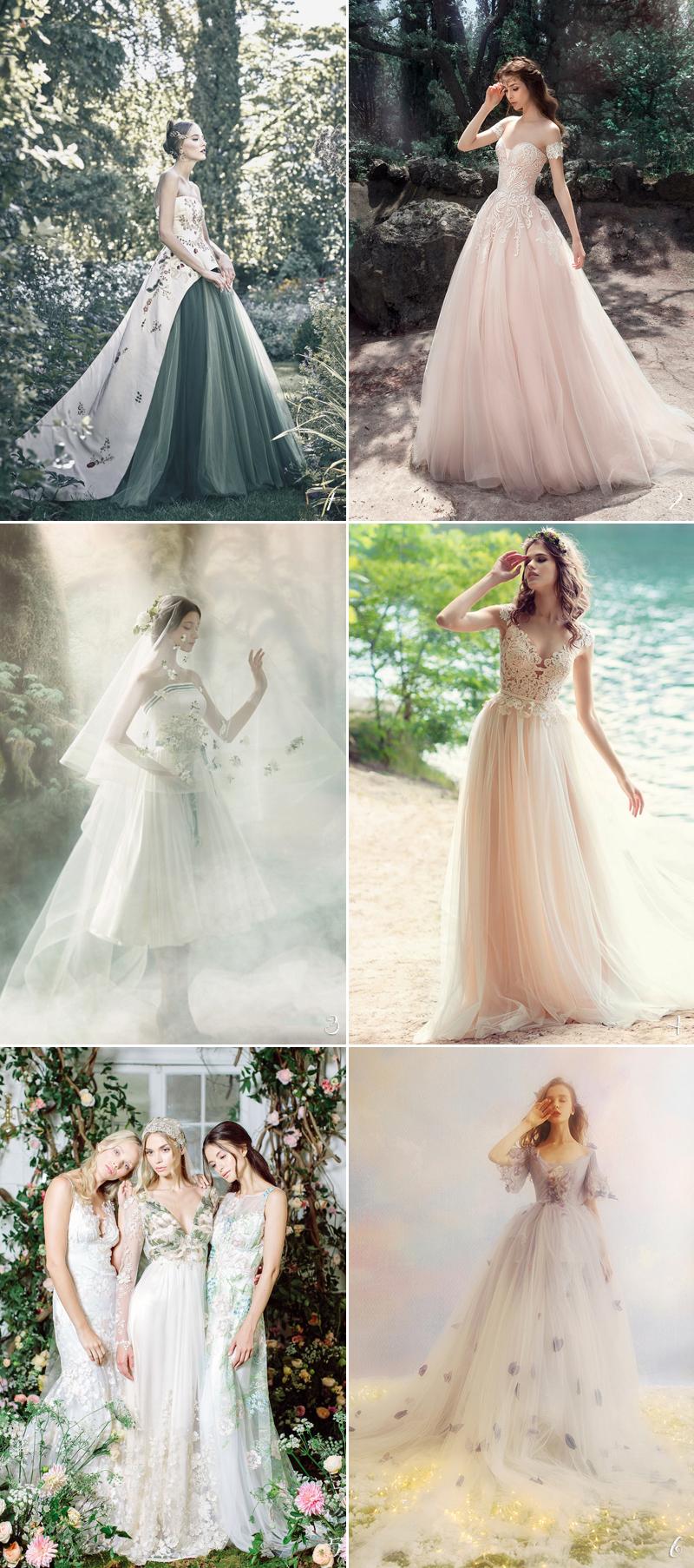 whimsical woodland wedding dress