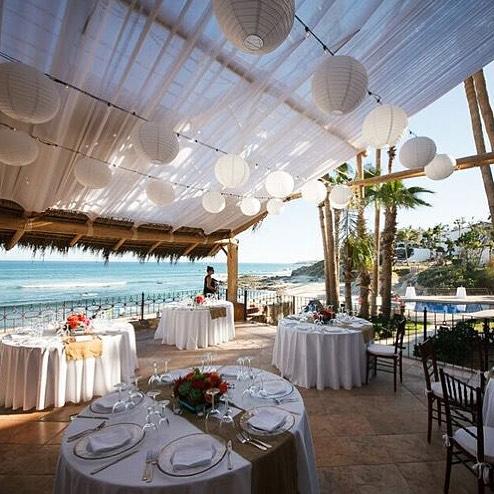 gorgeous white beach wedding