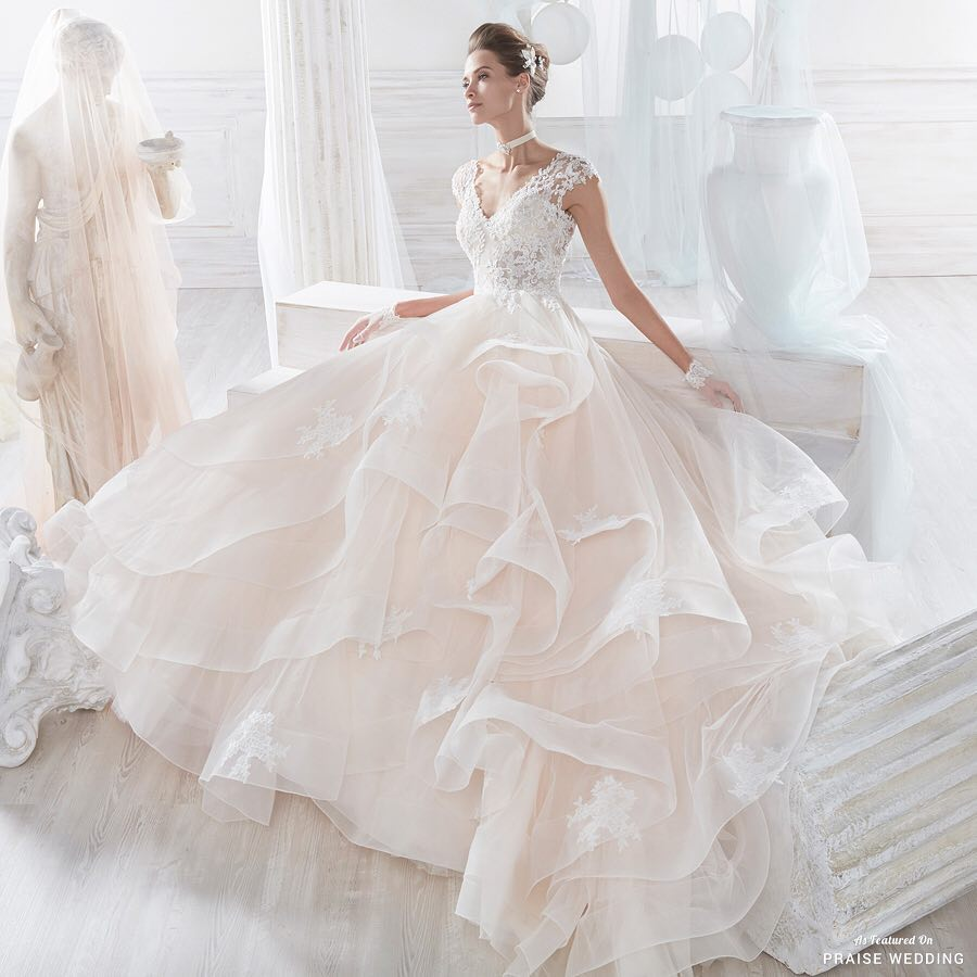 gorgeous overlayered gown design