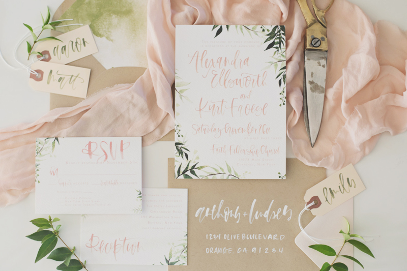 Blush-Olive-Watercolor-Botanical-Invitation Ideas