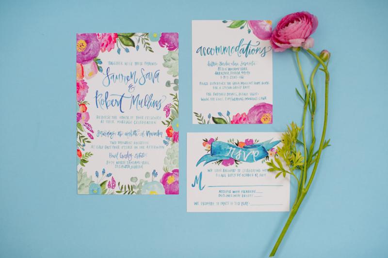 Bold-Blossoms Wedding Invitation Ideas