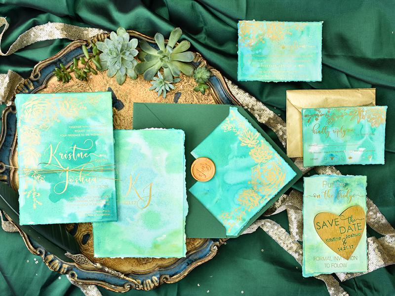Greenery-Watercolor-Invitation