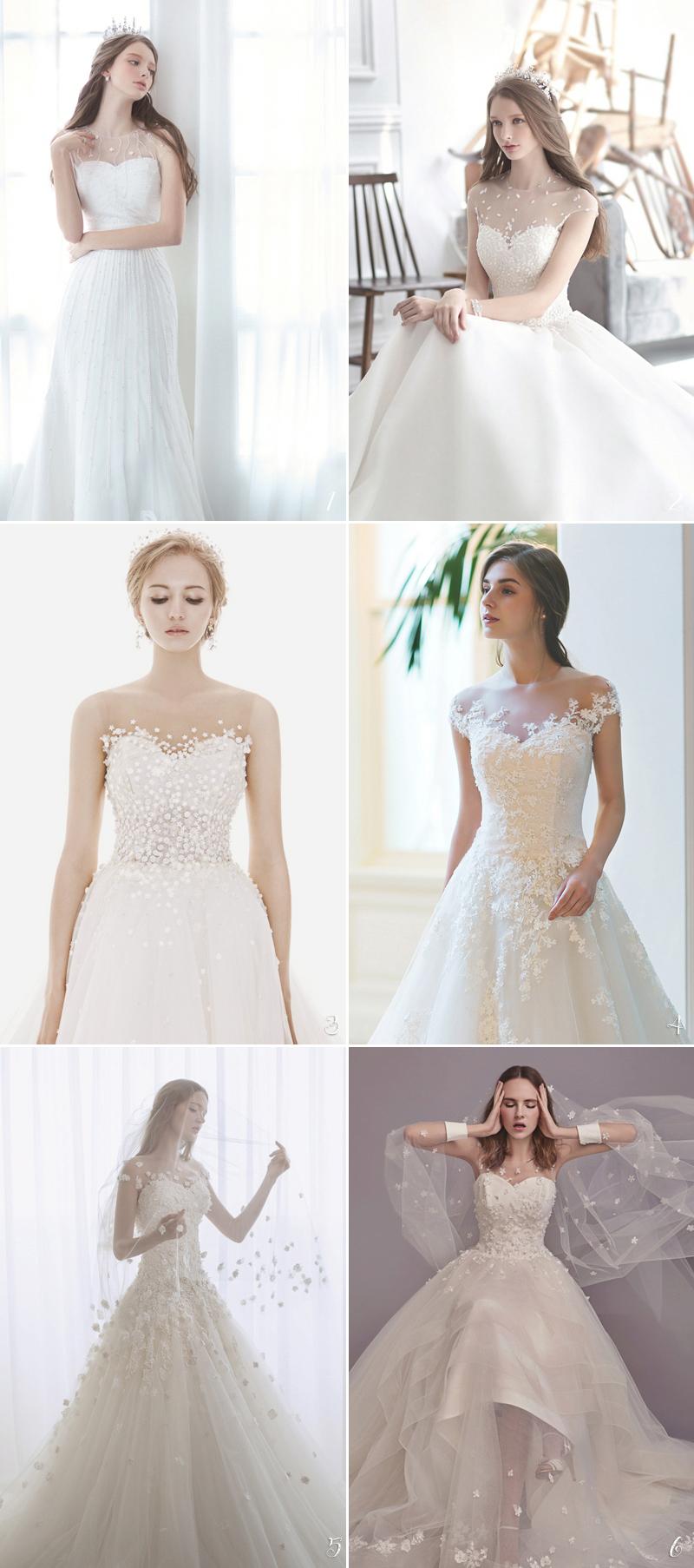 Illusion Neckline for romatic wedding dress