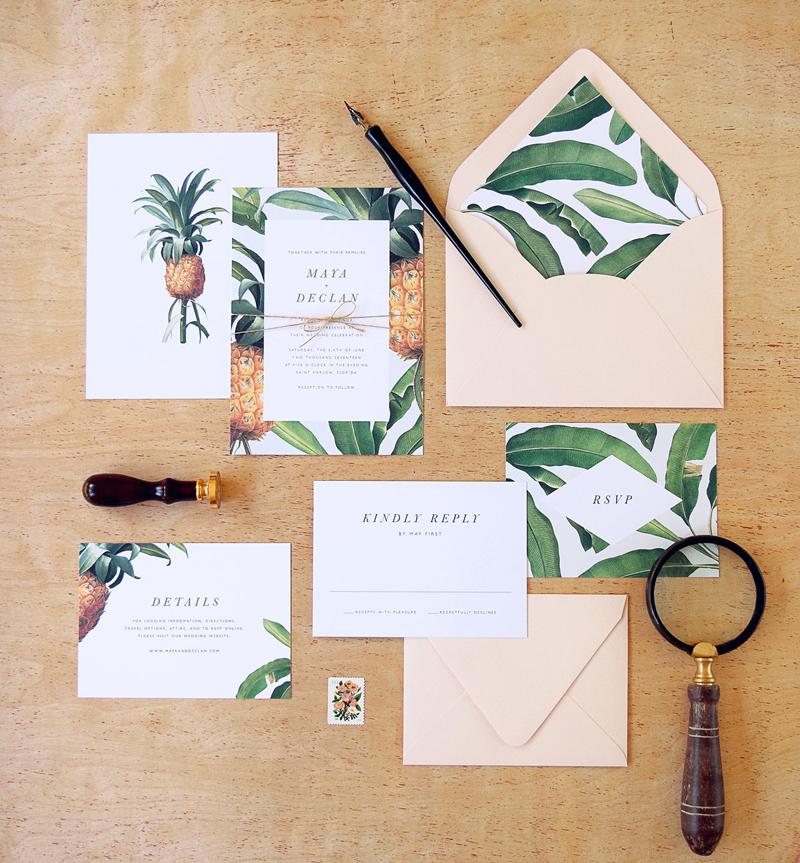 Tropical-Theme-Invitation Concept