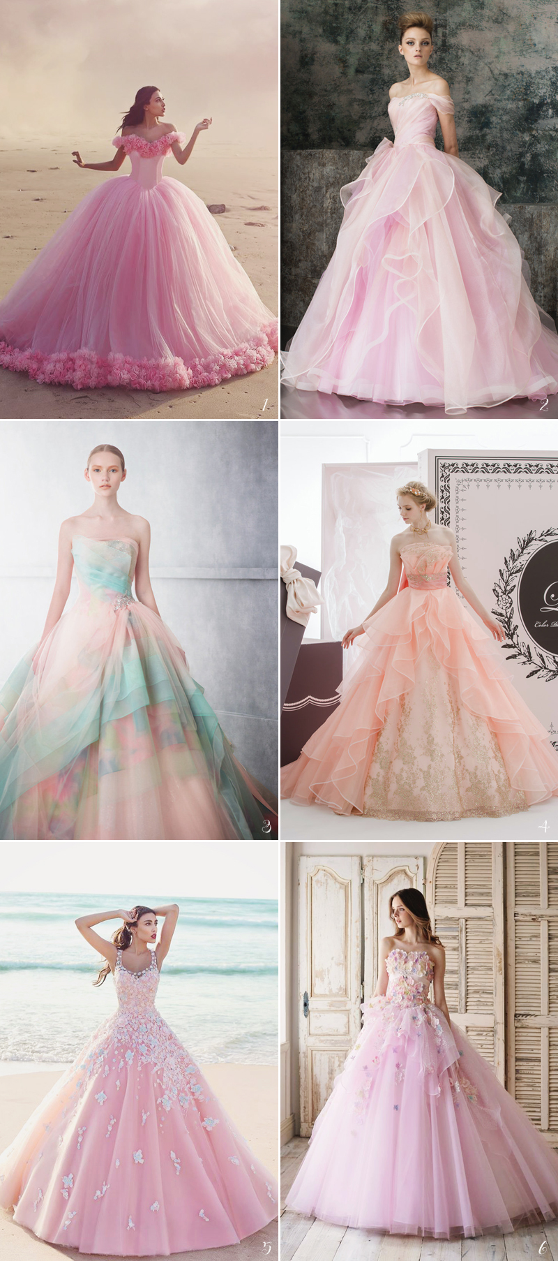 aurora wedding gowns with touch of pink