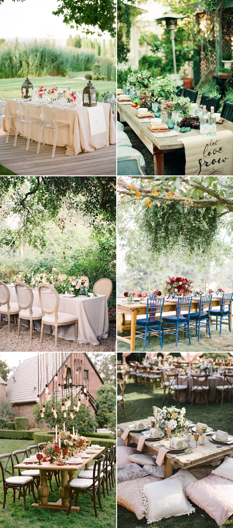 intimate wedding reception in the backyard