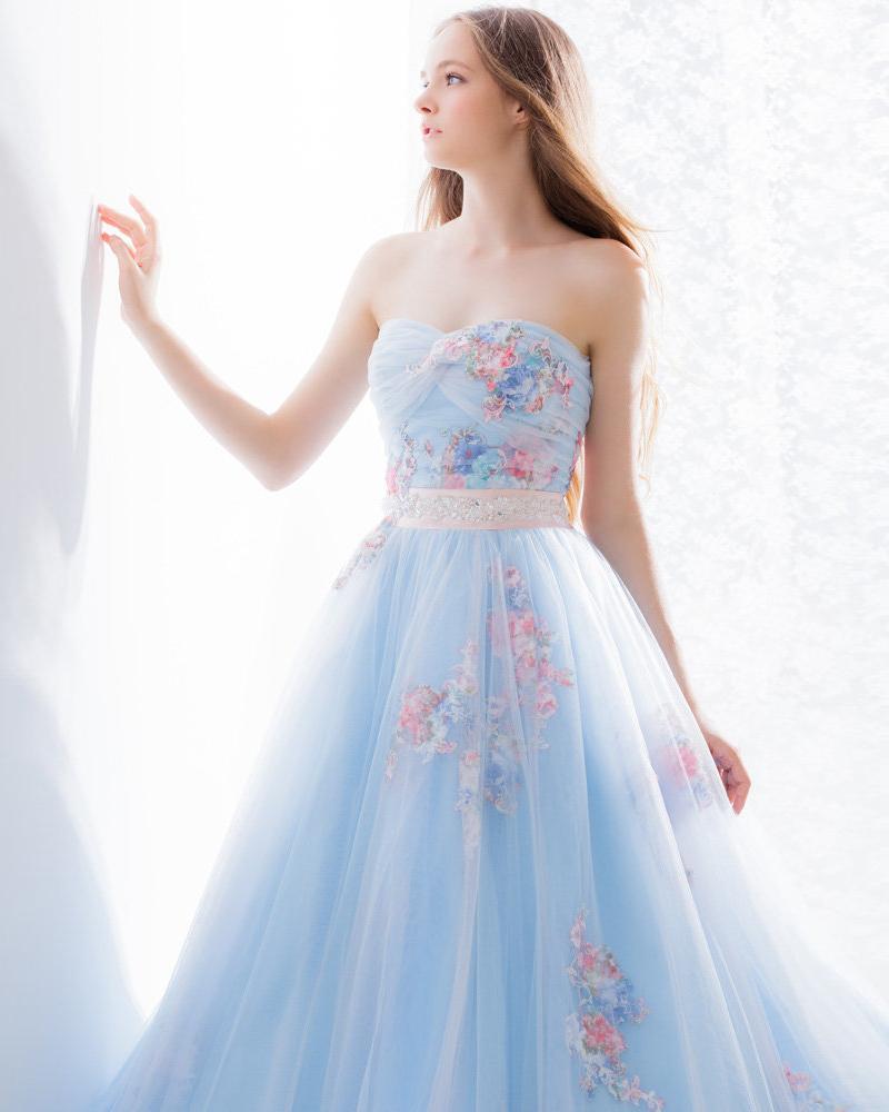 beautiful blue wedding gowns