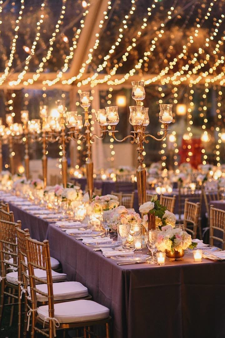 beautiful lights for night vintage wedding