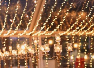 beautiful lighting for gorgeous wedding