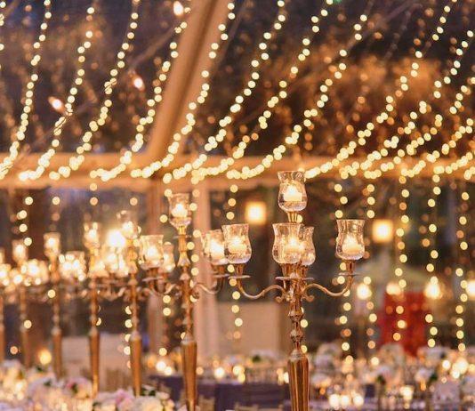 beautiful lighting for gorgeous wedding