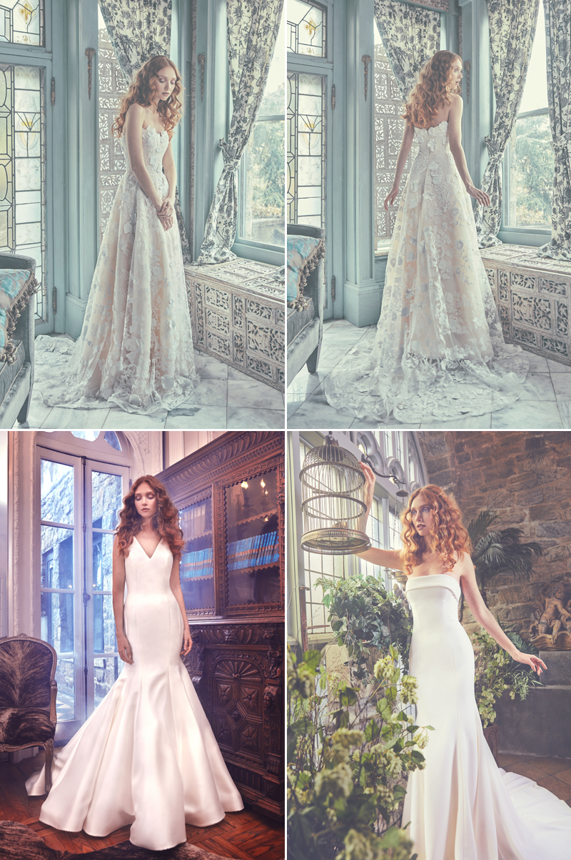 beautiful modern wedding dress