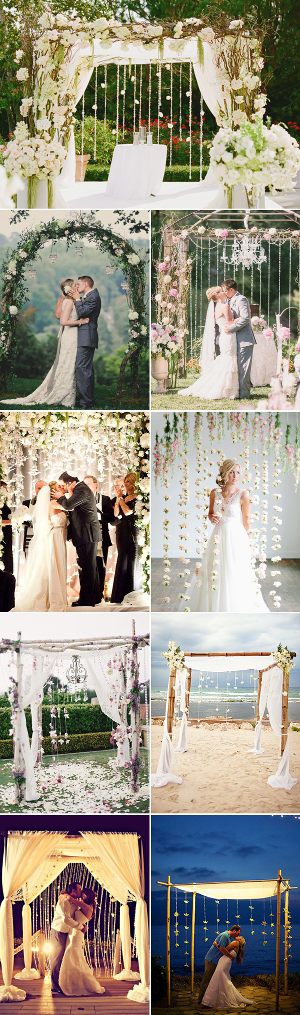 beautiful wedding arch with backdrops