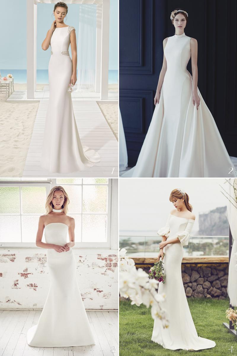 beautiful white wedding gown design