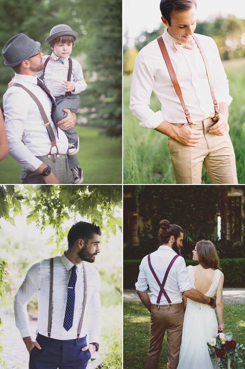 braces and suspenders groom design