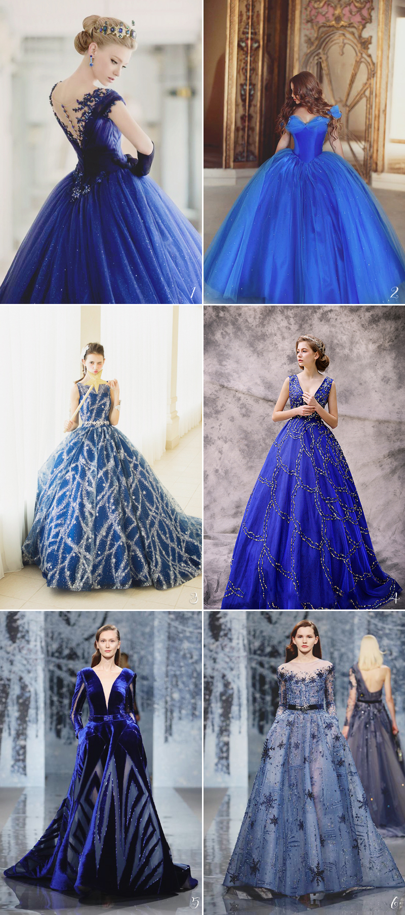 carming blue wedding gowns