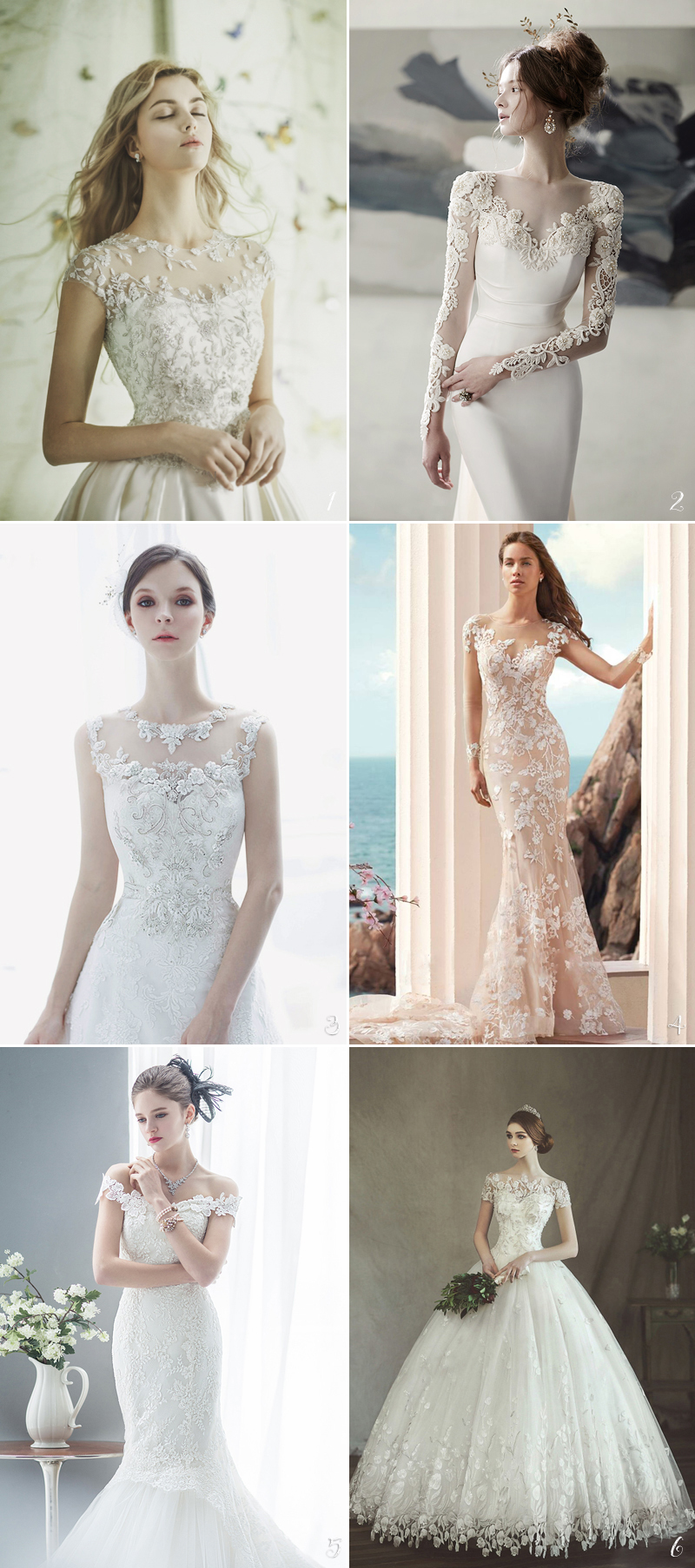 charming Floral Embroideries dresses