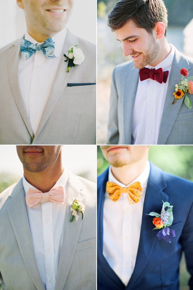 colorful vintage bowties design