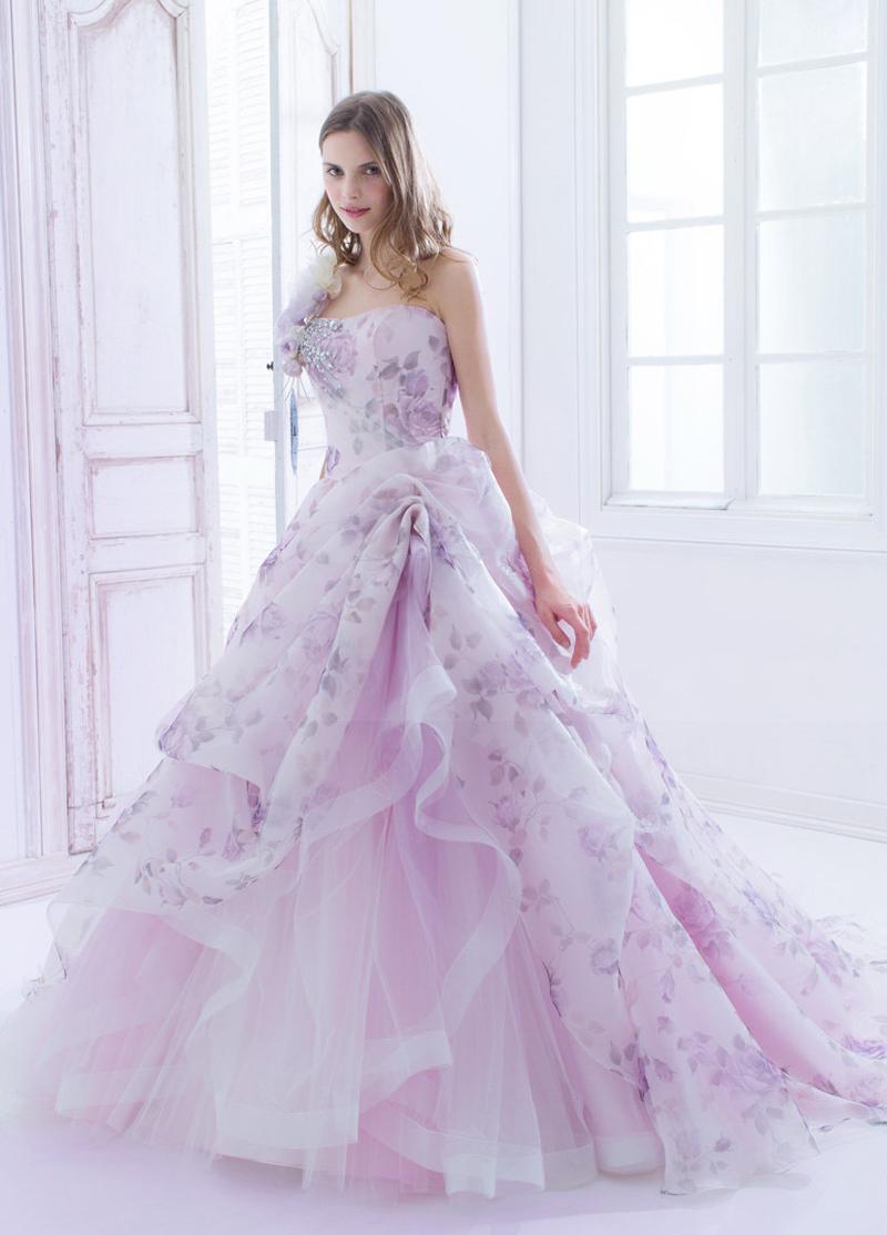 charming purple gowns design
