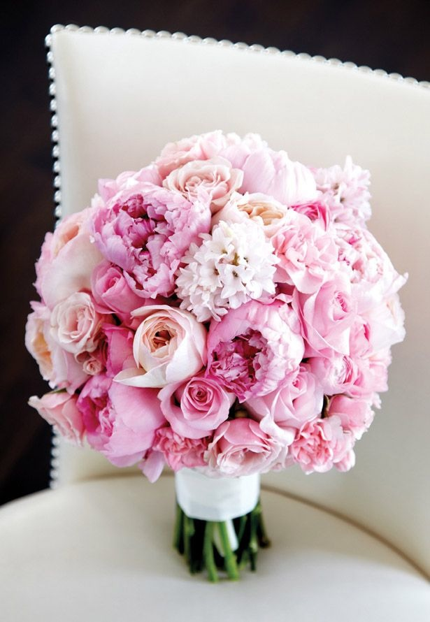 charming soft pink wedding bouquet