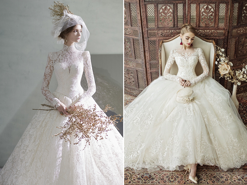Classic and Elegant Wedding Dresses with Beautiful Lace Design ...