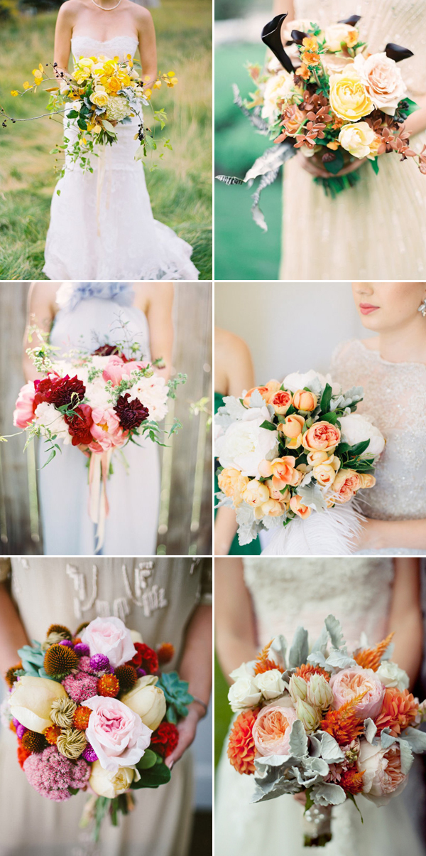 colorful and bold wedding bouquet ideas