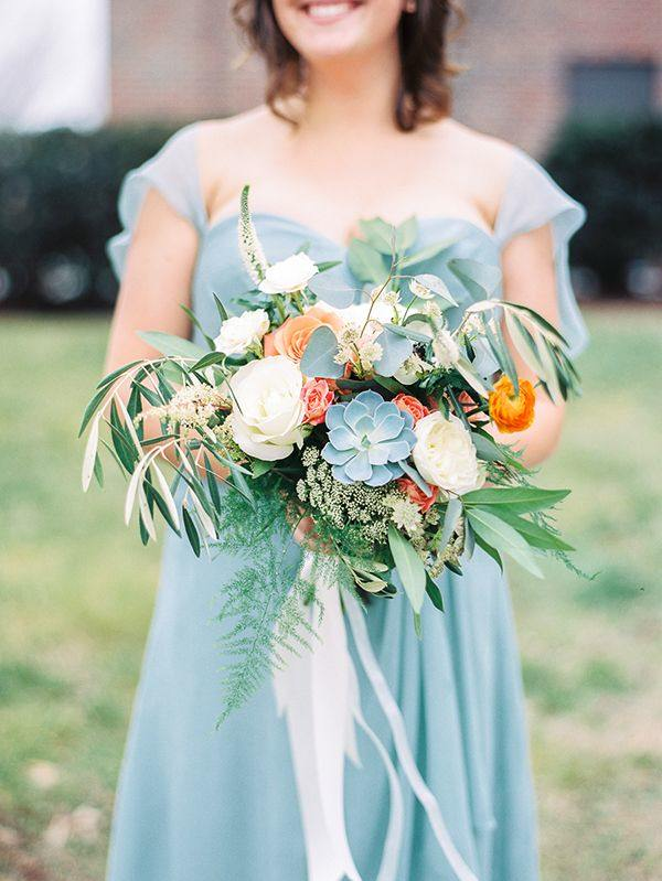colorful small wedding bouquet