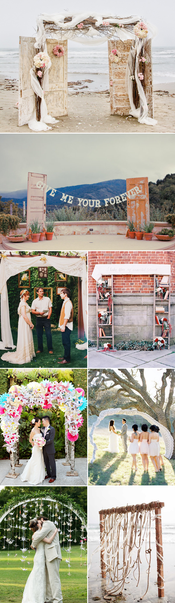 creative and unique wedding arch decor
