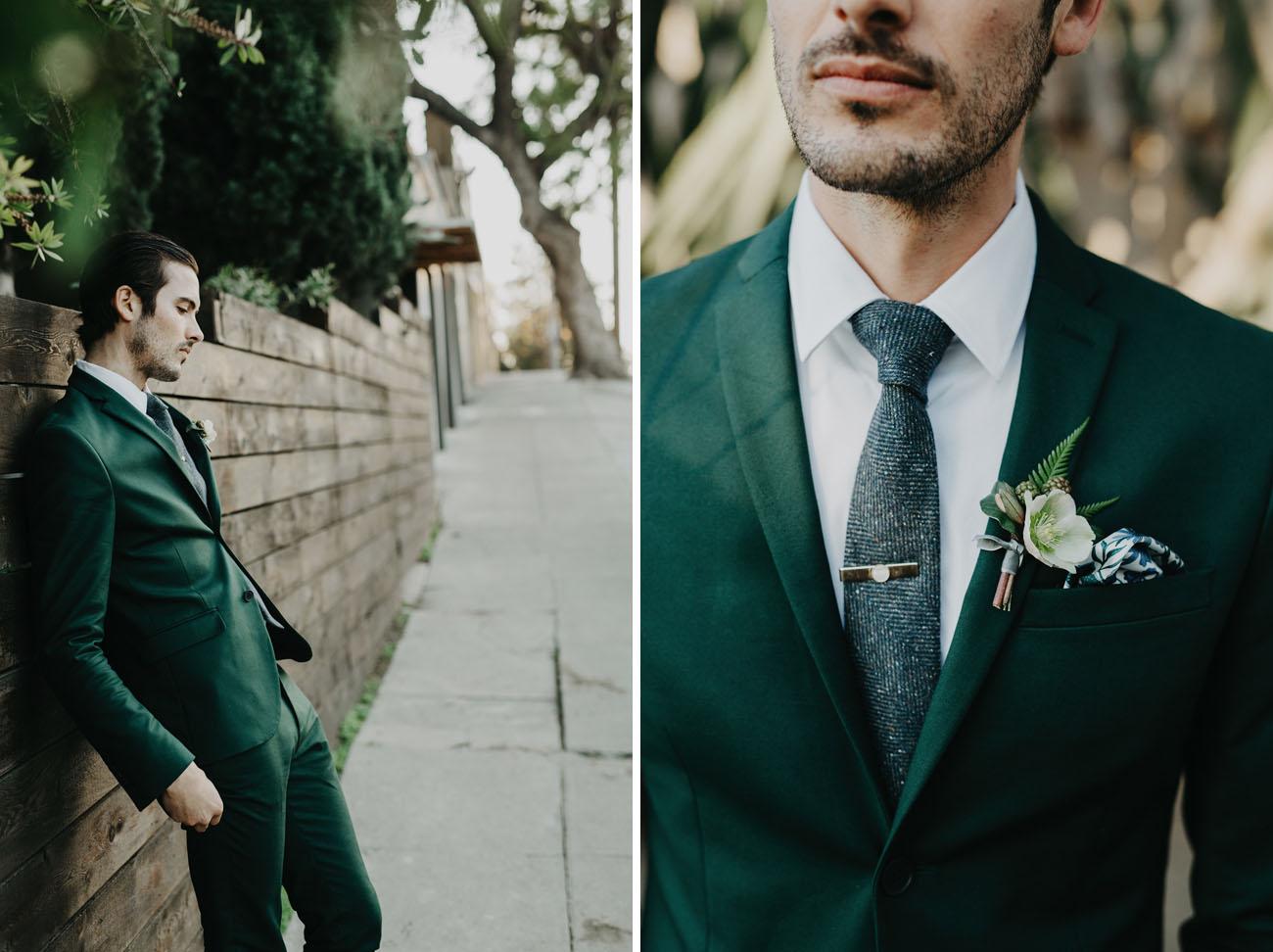 dark fabric gray wedding tie