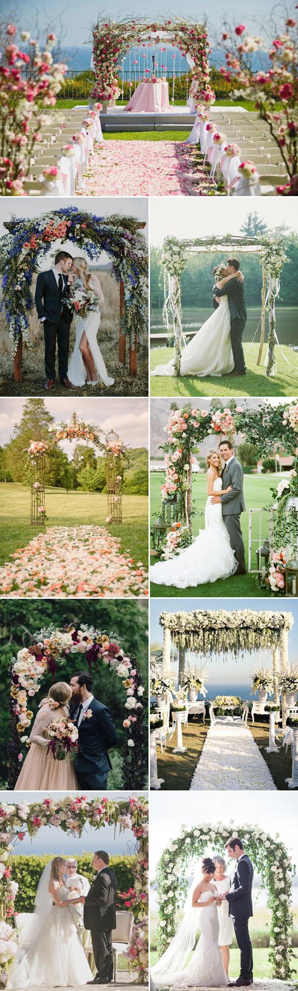 floral inspired for wedding arch