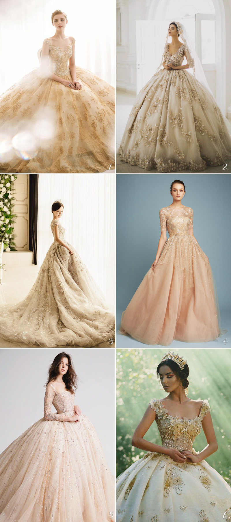 0d762d11 Strikingly Charming Wedding Dresses with Beautiful Color | roowedding