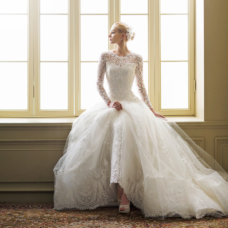 gorgeous waist ball wedding gown
