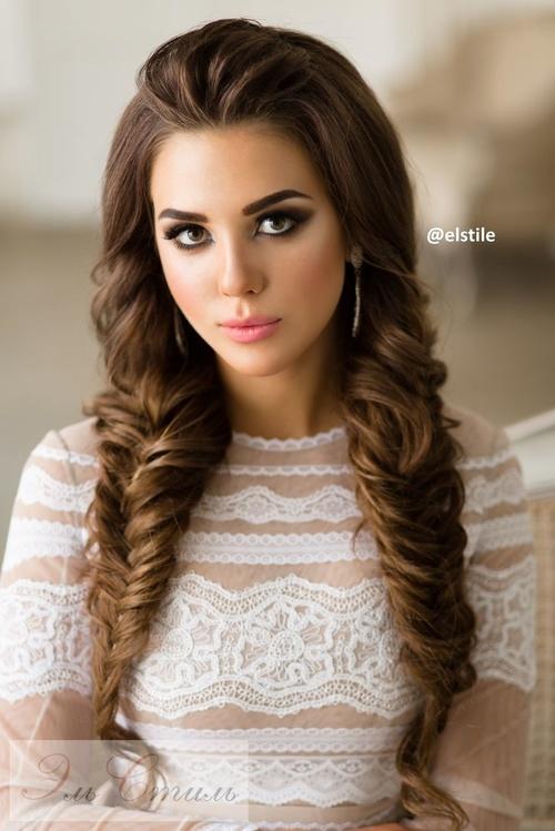 long hair braid for wedding hairstyle