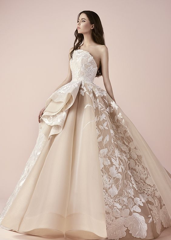 modern and graceful wedding gown