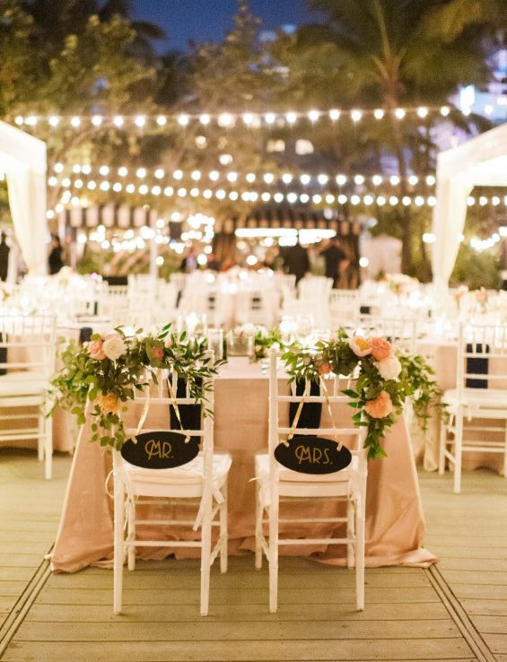 night wedding decor ideas