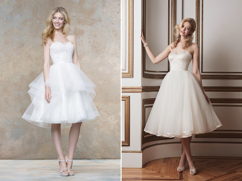 open off the shoulder wedding dress