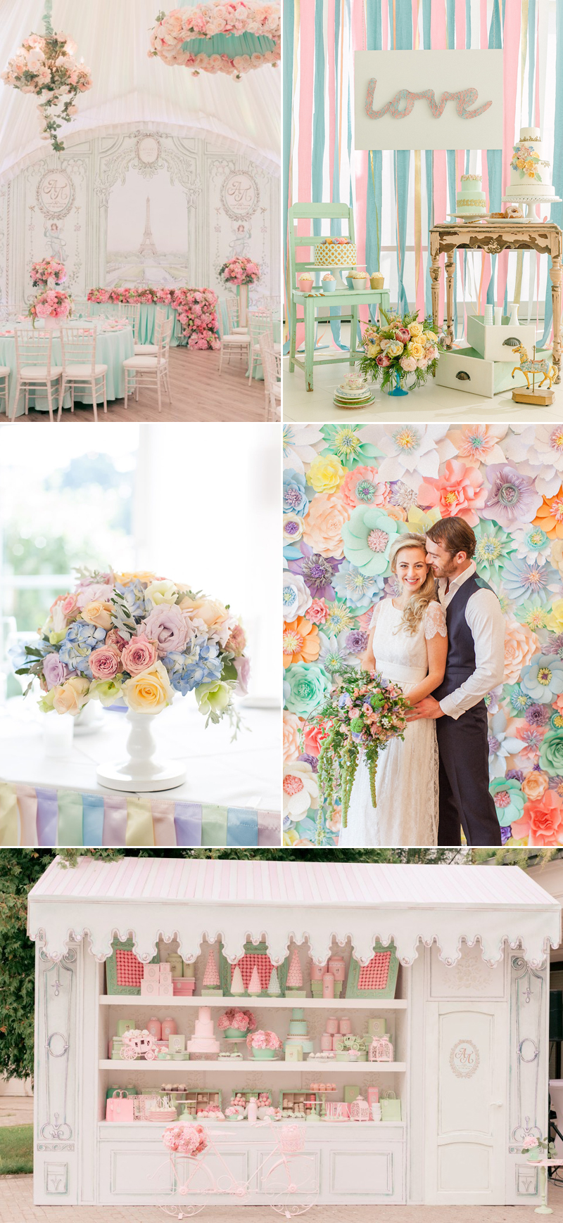 pastel color for wedding decor