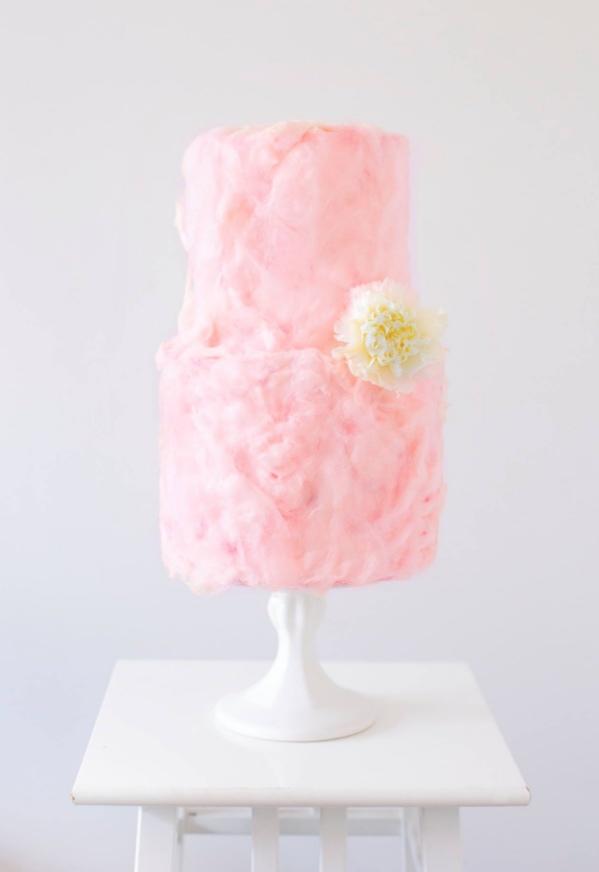 pink wedding cake topping