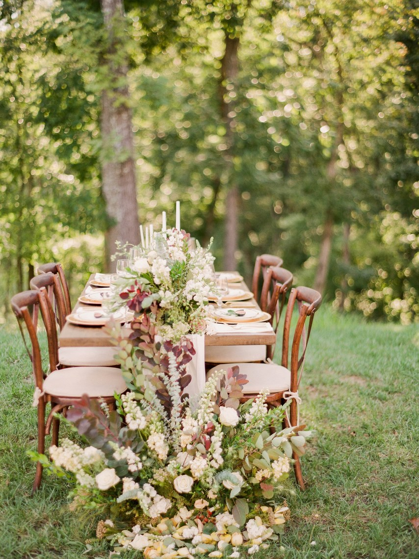 rustic table garlands decor