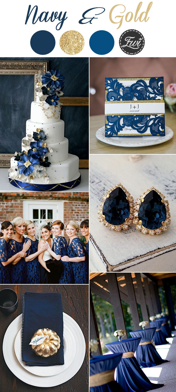 navy color for wedding concept