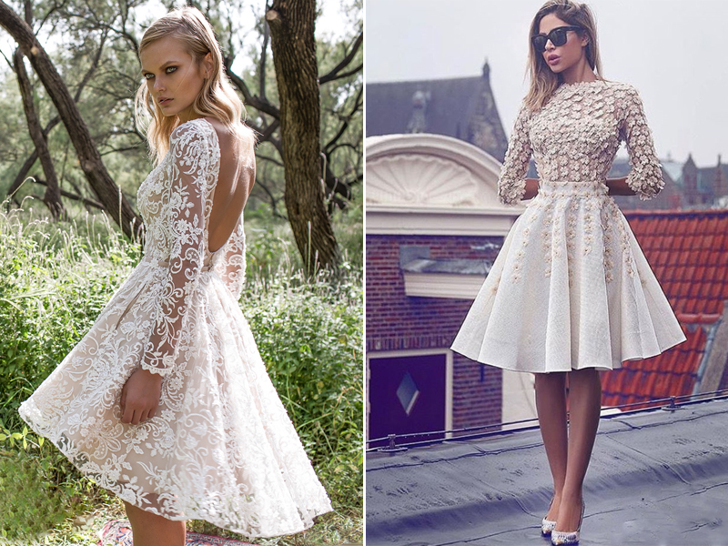Wedding Gown For Petite Bride: Modern Short Wedding Dresses For Stylish Brides