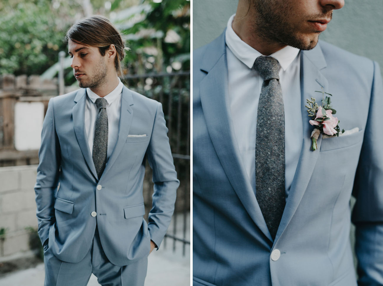 Groom Fashion Style Inspiration with Dark Bowtie Fabric | roowedding