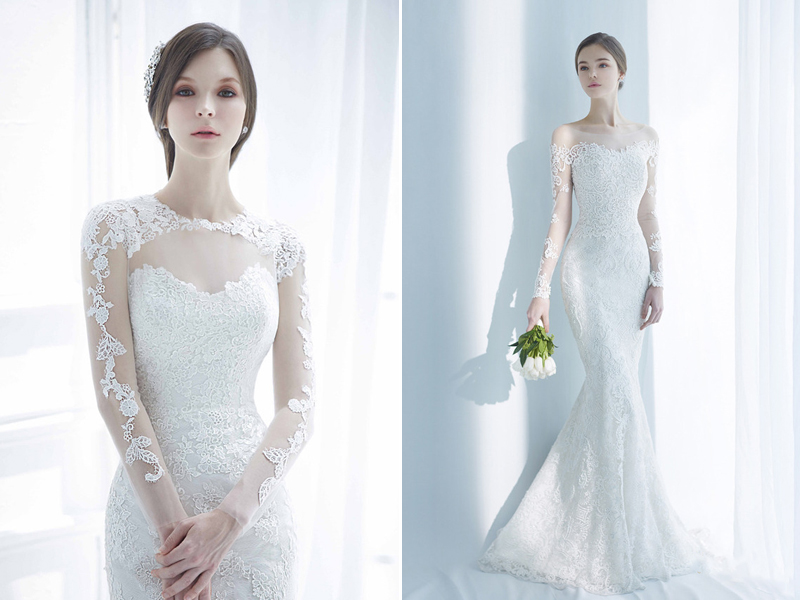 Classic and elegant wedding dresses with beautiful lace for Simple elegant short wedding dresses