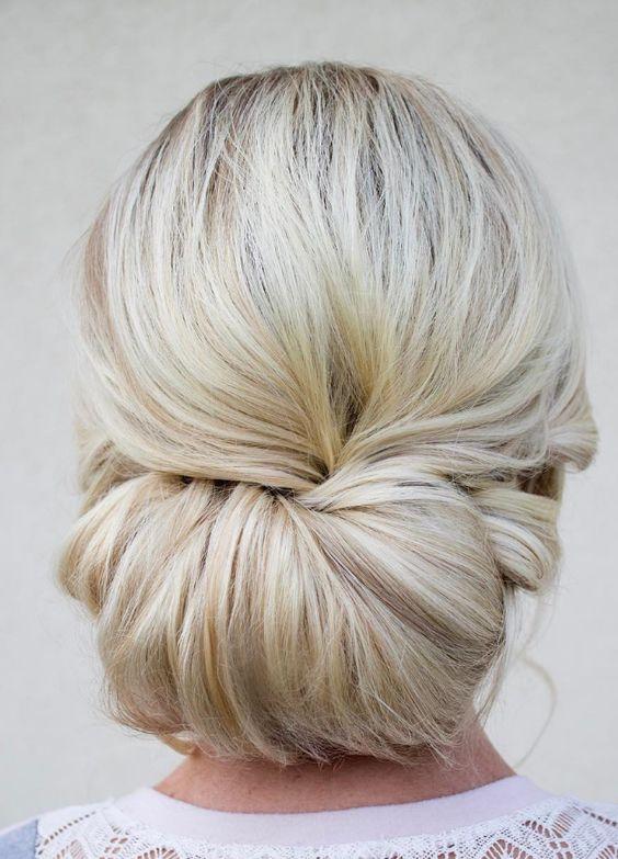 simple hair bun brides hairstyle